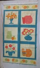 SQUEEZED QUILT PANEL BY SANDY GERVAIS FOR MODA ~ CUTE LEMONADE & FLOWERS BLOCKS