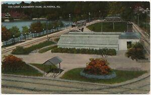 The Loop, Lakemont Park, Altoona PA Postcard Amusement Park