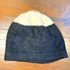 39d1614b215 Black White 100% Cashmere Beanie Hat Short Soft Lovely