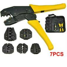 PRO Ratchet Crimper Plier Crimping Tool Cable Wire Electrical Terminals Kit Set