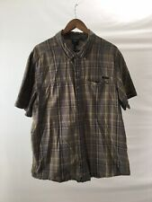 Harley Davidson Men's 2XL XXL Short Sleeve Shirt 100% Cotton Plaid 1