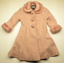 Vintage 80s ROTHSCHILD Pink Button Up Children's Coat/Jacket Children's Size 4T