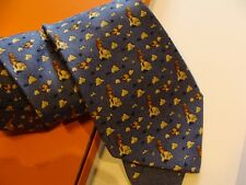 HERMES  silk tie,from whimsical collection, BEAVER !! ,NEW  with box
