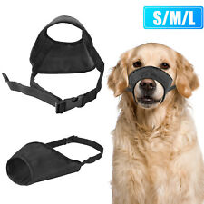 Dog Muzzle Adjustable Mouth Grooming Anti Stop Bark Bite Chew Pet Comfortable Us
