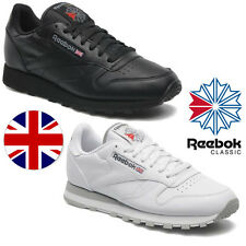 Reebok Classics Retro Trainers Black White Classic Union Jack Leather Shoes
