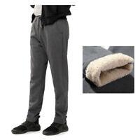 Men Winter Sport Pants Joggers Trousers Thicken Sherpa Lining Fleece Casual Warm