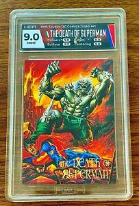 HGA 9 🔥THE DEATH OF SUPERMAN MINT 1995 SKYBOX DC COMICS JUSKO ART CARD POP. 1