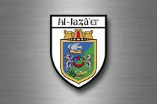 Sticker decal souvenir car coat arms shield city travel algeria algiers