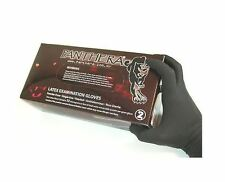 100 MEDIUM BLACK PANTHERA LATEX TATTOO PIERCING GLOVES