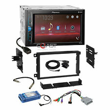 Pioneer USB Bluetooth Camera Input Stereo Dash Kit Amp Steering Harness for GM