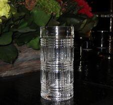 NEW RALPH LAUREN HOME GLEN PLAID CUT PATTERN CRYSTAL DRINKING GLASS or VASE