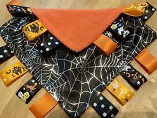 HALLOWEEN SPIDER BABY/TODDLER TAGGY BLANKET/COMFORTER/GIFT ****MANY OPTIONS*****