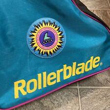 Vintage Rollerblade Bag Blade Gear Retro Carrying Skate Teal Purple Pink Zipper