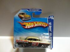 2010 Hot Wheels #103 Gold '57 Chevy Bel Air w/5 Spoke Wheels Short Card