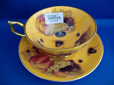 Aynsley Orchard Gold ATHENS Teacup & Saucer New with labels - Factory Now Closed
