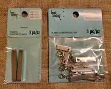 Bead Landing Elemints Rectangle Blanks, 8 Pcs, Silver 1.4 inch Pendants, 2 pcs