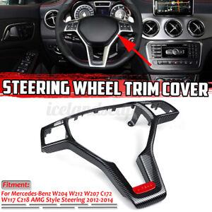 For Mercedes W176 W204 W207 X204 W117 W156 AMG Kohlefaser-Stil Lenkrad Blende