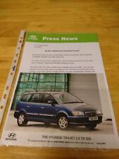 2001 Hyundai Trajet Diesel Press Release