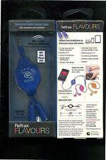 RETRAK RETRACKABLE HEADPHONE SPLITTER CABLE - BLUE
