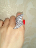 Fashion Women Silver Plated White Sapphire Ring Wedding Bridal Jewelry Size 6-10