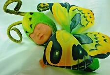 "ANNE GEDDES 9"" GREEN & YELLOW BUTTERFLY DOLL~TO ADORABLE!~CLEAN!"