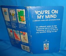 Hallmark To Kids With Love YOU'RE ON MY MIND Cards Vintage 6 Different Cards New