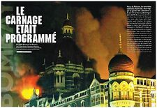 Coupure de presse Clipping 2008 (16 pages) Attentat Hotel Taj Mahal de Bombay