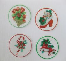12 PRE CUT EDIBLE RICE WAFER PAPER CARD CHRISTMAS XMAS CUPCAKE TOPPERS