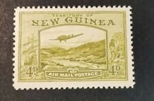 New Guinea 1939 Airmail Bulolo Goldfields 4d olive  Mint  Hinged J10