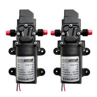 2 Lot 12V 70W 6L/min Pro High Pressure Diaphragm Self Priming Water Pump 130PSI