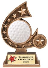 Golf Resin Trophy Award 5 3/4 Inches Tall Free Lettering M-Rcs130