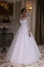 Vintage White/ivory Wedding dresses bridal gown custom size UK6/8/10/12/14/16++