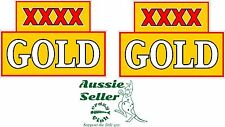 XXXX GOLD Stickers Small  TWO (2) 75 x 55 mm