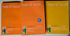 3 Voll. Catalogue Yvert et Tellier: 1999 tome 2, 2001 tome 1 bis e tome 3 - L