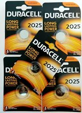 Original 5 x Duracell CR2025 3V Lithium Coin Cell Battery 2025 DL/BR2025