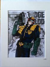 Judge Dredd- 2000 AD Comics - Hand Drawn & Hand Painted Cel