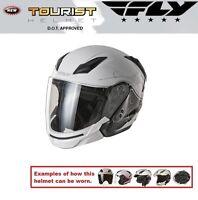 Fly Racing Tourist Multi Style Cirrus White Silver Helmet Harley Davidson Yamaha