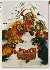 "GARDEN FLAG-- 18"" X 12""  Dachshund Choir by Premier Design-Artist-Ruth Maystead"