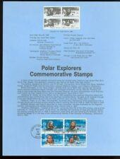 #2220-23 22c Polar Explorers USPS #8616 Souvenir Page