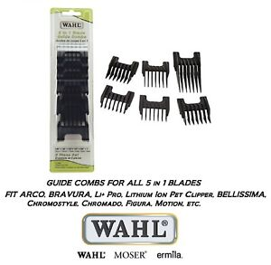Wahl 5 in 1 Blade GUIDE COMB SET-Chromstyle,Bellina,BELLISSIMA,Academy Clipper