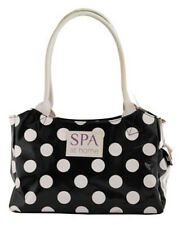 SPOTTY VANITY BAG FULLY LINED MAKE UP TOILETRIES SHOWER BATH SPA HOLIDAY WASH