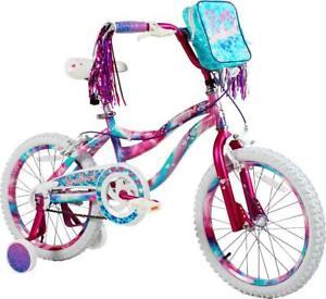 "18"" Girls Sweetheart Bike Adjustable Training Wheels Dipped Paint Effect Kids"