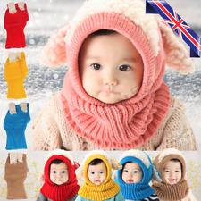 Toddler Winter Baby Kids Warm Hat Girls Boys Hooded Scarf Beanie Caps Hats Cap