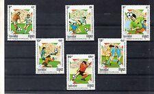 Kampuchea Mundial de Futbol Italia 90 valores del año 1989 (DD-527)