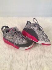 Nike Air Jordan Dub Zero GG Shoes Wolf Grey Hyper Pink White Size 9C 725744-007