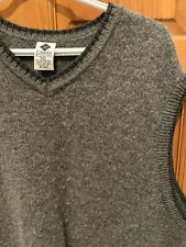 Columbia Mens Size XXL Gray w/Black Trim 100% Shetland Wool Vest