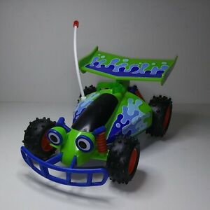 "Mattel Disney/Pixar Toy Story RC Buggy Free Wheel 10"" Green & Blue  Car NonPower"