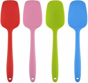 Silicone Spatula Cooking Baking Scraper Cake Cream Butter Mixing Batter Tools UK