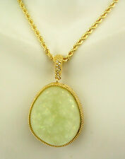 "Joan Rivers  Drusy Druzy  Necklace /Enhancer  32""   ICE Pend is 1 1/2"""