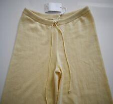 $650 New TSE CASHMERE Canary Yellow 100% CASHMERE Knit Casual Lounge Pants L/XL